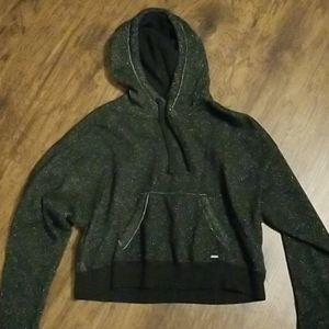 Hollister sparkly cropped hoodie